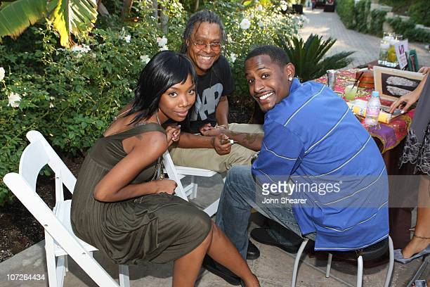 Brandy and Jackie Long at Omar Epps and Keisha Epps' baby shower at a private residence on November 3 2007 in Chatsworth California
