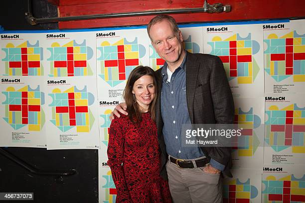 Brandy and Pete Nordstrom pose for a photo backstage during the Seattle Musicians for Childrens Hospital benefit at The Showbox Market on December 14...