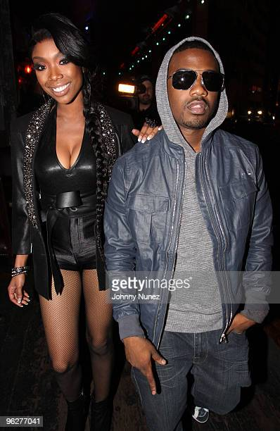 Brandy and Ray J attend the House of Blues Sunset Strip on January 29 2010 in West Hollywood California