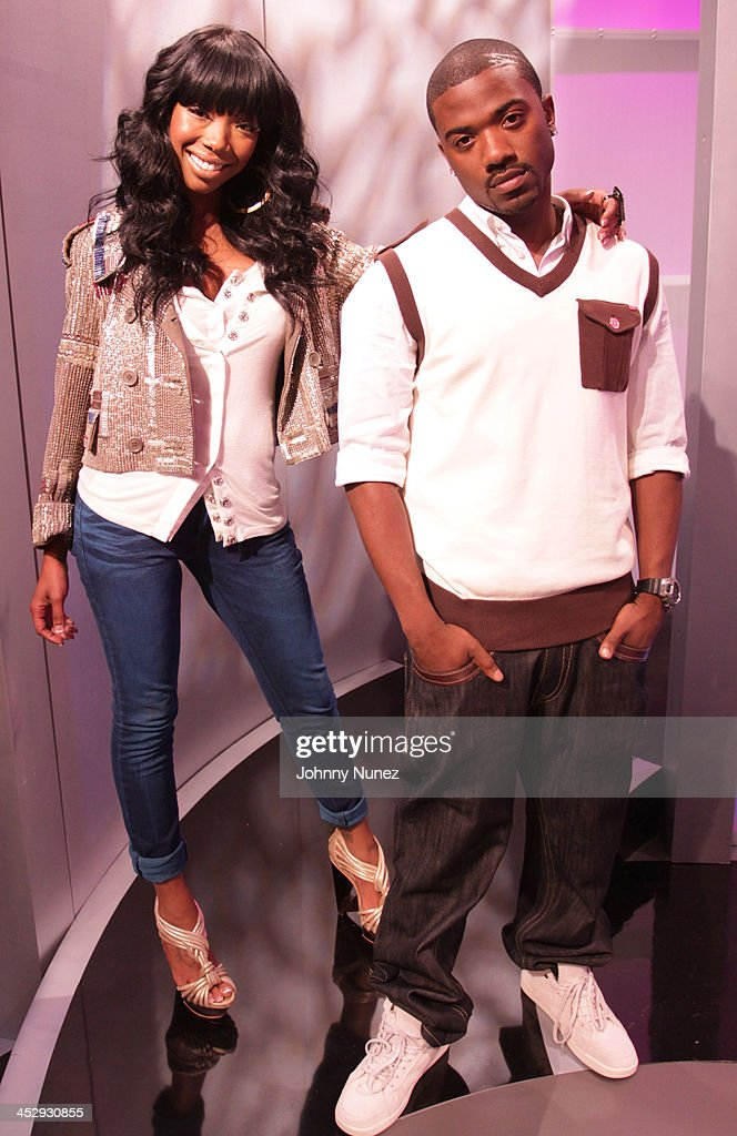 Brandy and Ray J. visit BET's 106 & Park at BET Studios on April 21, 2010 in New York City.