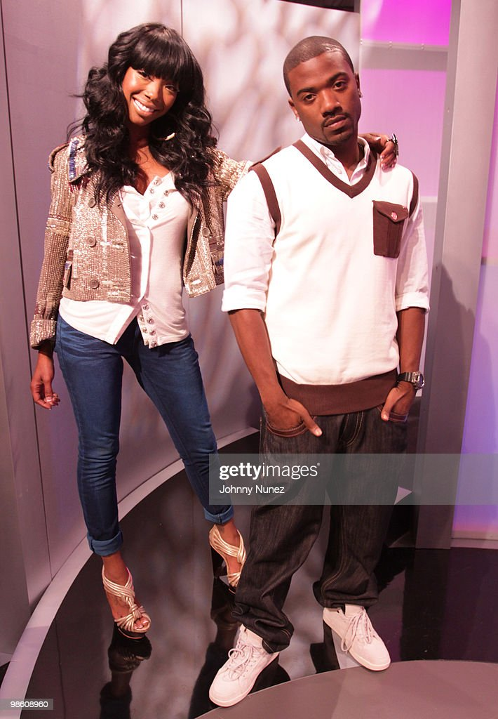 Brandy and Ray J. visit BET's '106 & Park' at BET Studios on April 21, 2010 in New York City.