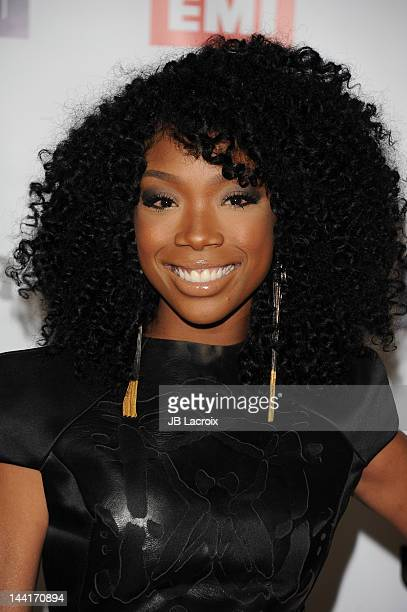 Brandy arrives at the NARM Music Biz Awards Dinner Party held at the Hyatt Regency Century Plaza on May 10, 2012 in Century City, California.