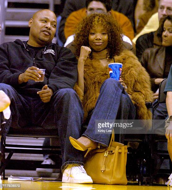 Brandy at Los Angeles Lakers' game against the Phoenix Suns at the Staples Center in Los Angeles, Calif. On Wednesday, Dec. 8, 2004.