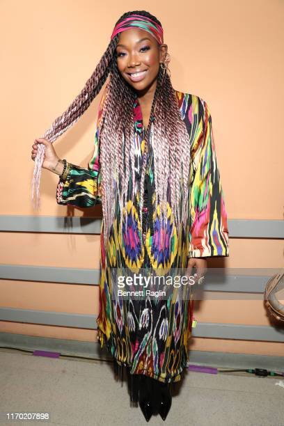 Brandy attends Black Girls Rock 2019 Hosted By Niecy Nash at NJPAC on August 25 2019 in Newark New Jersey