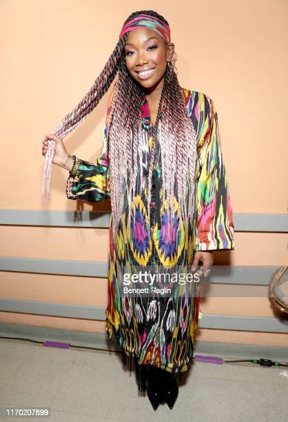 Brandy attends Black Girls Rock 2019 Hosted By Niecy Nash at NJPAC on August 25, 2019 in Newark, New Jersey.
