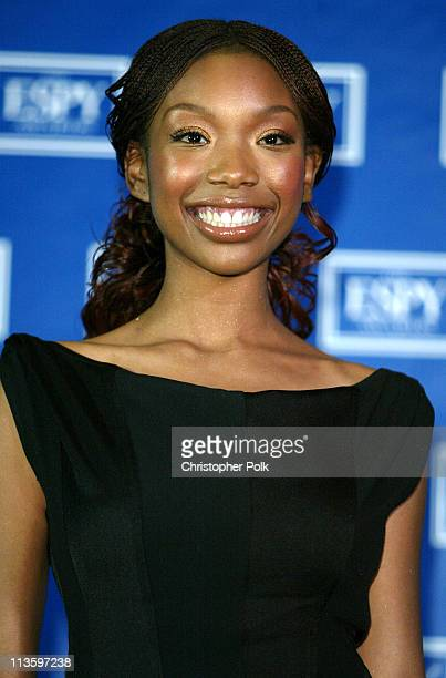 Brandy during 2003 ESPY Awards Press Room at Kodak Theatre in Hollywood California United States