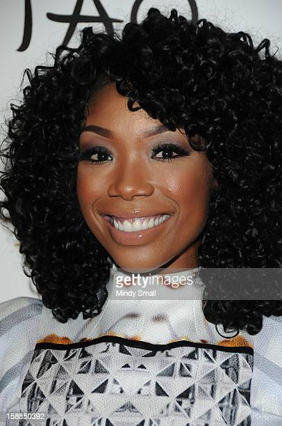 Brandy hosts New Year's Eve at Lavo at The Palazzo on December 31, 2012 in Las Vegas, Nevada.