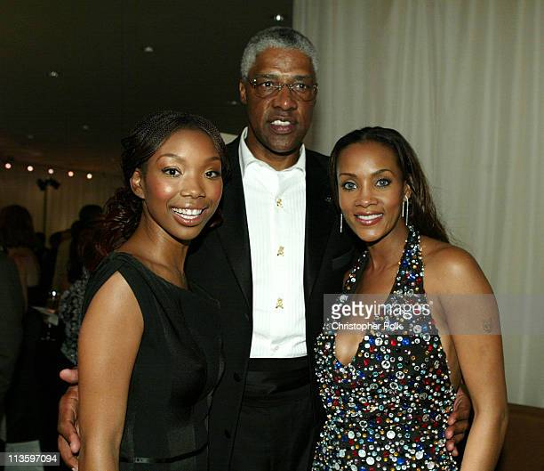 Brandy Julius Erving and Vivica A Fox during 2003 ESPY Awards After Party at Kodak Theatre in Hollywood California United States