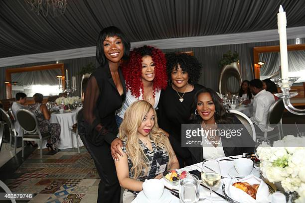 Brandy Keyshia Cole Sonja Norwood Tameka Tiny CottleHarris and Tina Douglas attend MILF Celebration Of Entertainment Mothers on February 6 2015 in...