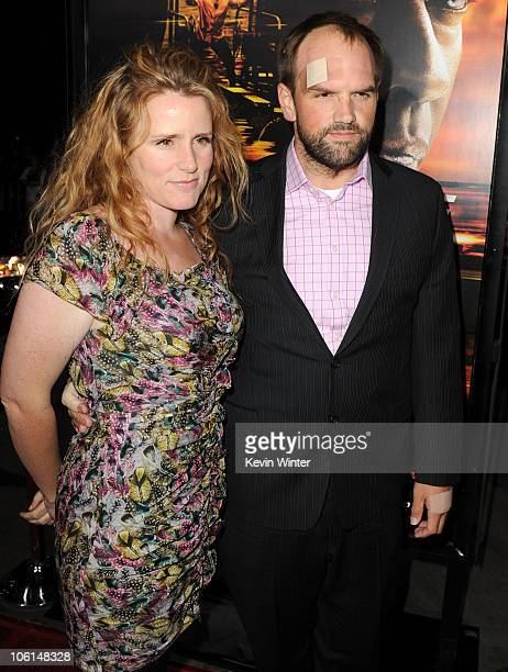 Brandy Lewis and Ethan Suplee arrive at the premiere of Twentieth Century Fox's Unstoppable at Regency Village Theater on October 26 2010 in Westwood...