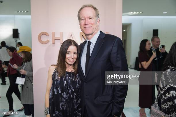 Brandy Nordstrom and Pete Nordstrom attend the Chanel Ephemeral Boutique opening at Nordstrom on November 28 2017 in Seattle Washington