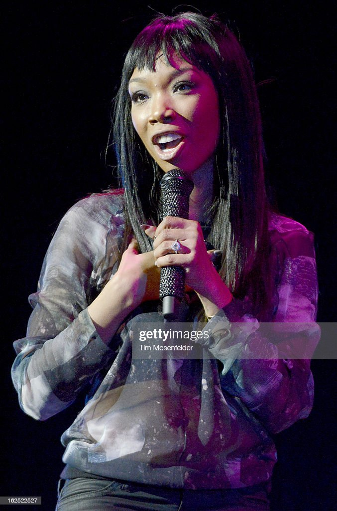 Brandy Norwood aka Brandy performs in support the her Two Eleven release at The Paramount Theatre on February 23, 2013 in Oakland, California.