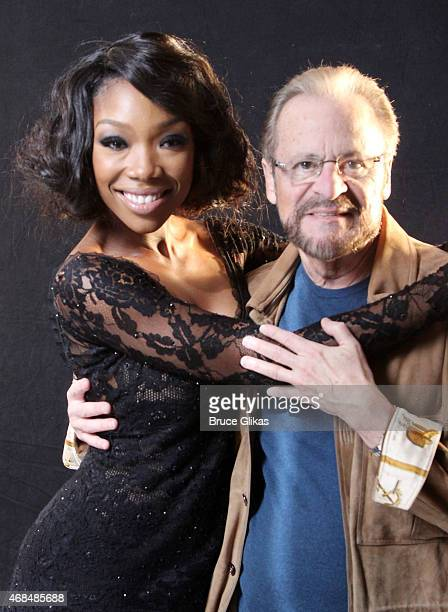 """Brandy Norwood and Producer Barry Weissler pose as Brandy prepares for her Broadway debut as """"Roxie Hart"""" in """"Chicago"""" with an ad photoshoot at..."""