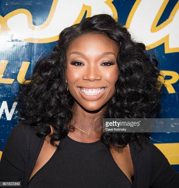 Brandy Norwood arrives at the 2015 MBK Entertainment Holiday Concert Party at BB King Blues Club Grill on December 15 2015 in New York City