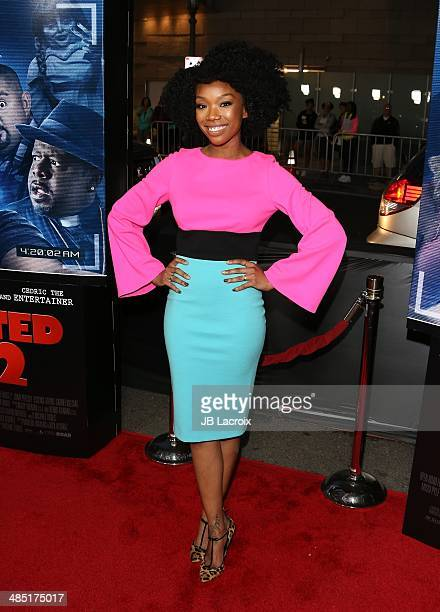Brandy Norwood attends 'A Haunted House 2' Los Angeles premiere held at Regal Cinemas LA Live on April 16 2014 in Los Angeles California
