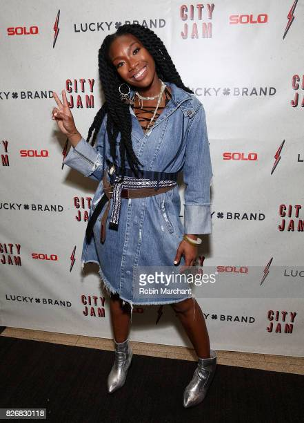 Brandy Norwood attends Lucky Brand Presents Lucky Lounge City Jam with Brandy at Freehand Chicago on August 5 2017 in Chicago Illinois