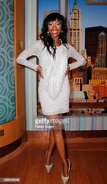 Brandy Norwood of The Game visits The Wendy Williams Show at The Wendy Williams Show Studio on January 9 2012 in New York City