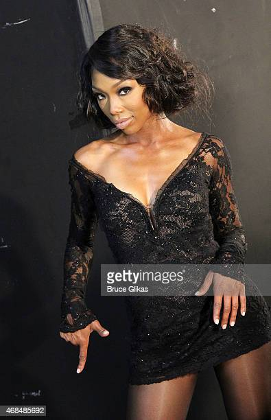"""Brandy Norwood prepares for her Broadway debut as """"Roxie Hart"""" in """"Chicago"""" with an ad photoshoot at Splashlight Studios on April 2, 2015 in New York..."""