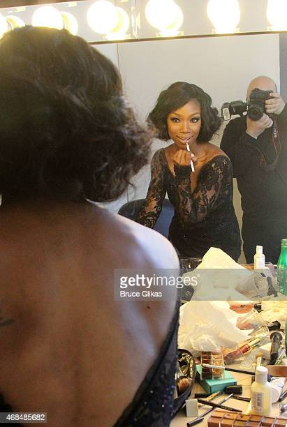 """Brandy Norwood shoots with Photographer Bruce Glikas as she prepares for her Broadway debut as """"Roxie Hart"""" in """"Chicago"""" with an ad photoshoot at..."""