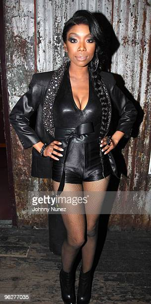 Brandy performs at House of Blues Sunset Strip on January 29 2010 in West Hollywood California
