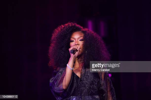 Brandy performs onstage during the Circle of Sisters' RB Live concert at Prudential Center on September 30 2018 in Newark New Jersey