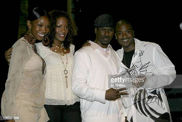 Brandy Shauney Baby Glenn Lewis and Ray J Seen here as Ray J accepts the Award for 'Favorite Male Vocalist'