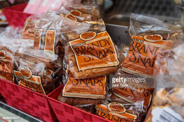 Brandy snaps on display in a stall as visitors enjoy the attractions at the Nottingham Goose Fair in the Forest Recreation Ground on October 7 2017...