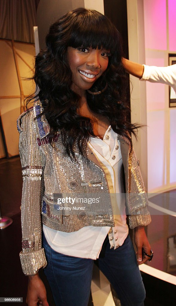 Brandy visits BET's '106 & Park' at BET Studios on April 21, 2010 in New York City.