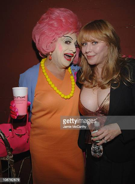 Brandy Wine and Bebe Buell attend the Squeezebox Documentary Film AfterParty During Tribeca Film Festival at the Blender Theater in New York on April...
