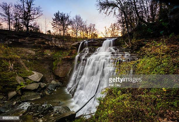 brandywine falls in cuyahoga valley national park - national park stock pictures, royalty-free photos & images