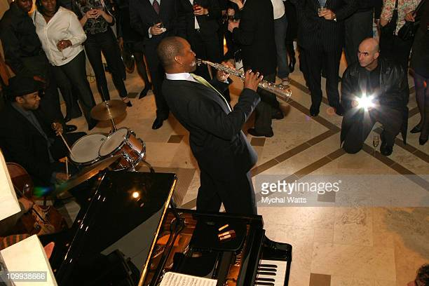 Branford Marsalis during Joseph Abboud Apparel Hosts Fashion and Jazz Event with Branford Marsalis at Joseph Abboud Store in New York City New York...