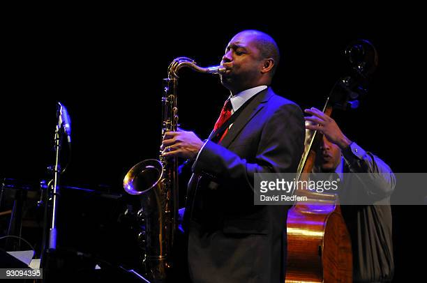 Branford Marsalis performs on stage at the QEH as part of the London Jazz Festival on November 16 2009 in London England