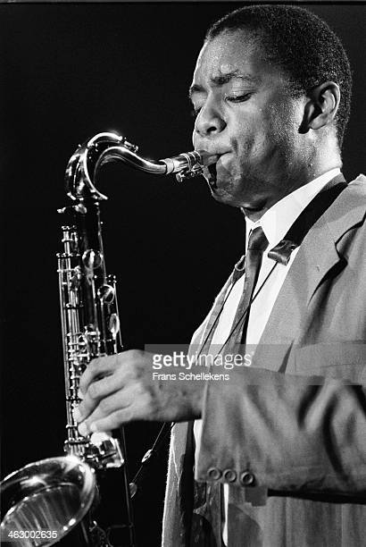 Branford Marsalis tenor sax performs at the North Sea Jazz Festival in the Hague the Netherlands on 13 July 1990