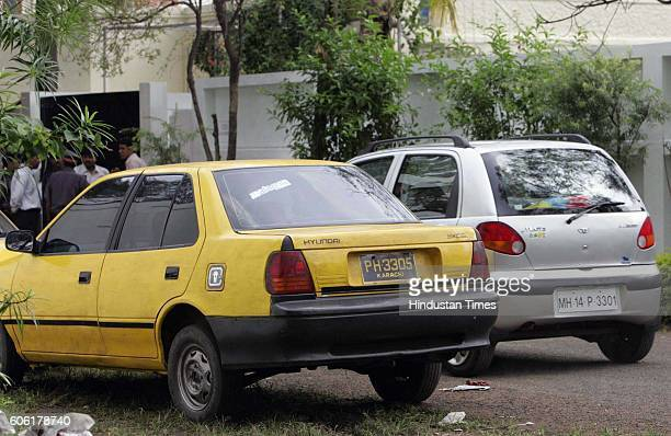 Brangelina A car painted like a Pakistani taxi cab with Karachi number plates outside the main shooting bungalow at Sindh Society where shooting is...