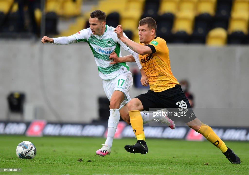 SG Dynamo Dresden v SpVgg Greuther Fürth - Second Bundesliga : News Photo