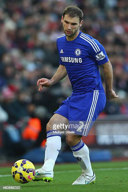 Branislav Ivanovic of Chelsea during the Barclays Premier League match between Southampton and Chelsea at St Mary's Stadium on December 28 2014 in...