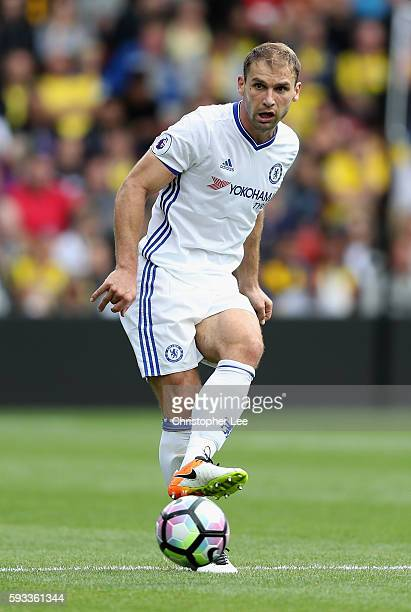 Branislav Ivanovic of Chelsea in action during the Premier League match between Watford and Chelsea at Vicarage Road on August 20 2016 in Watford...