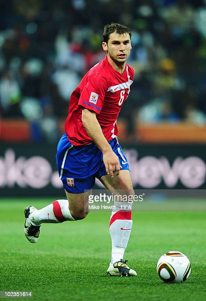 Branislav Ivanovic of Serbia in action during the 2010 FIFA World Cup South  Africa Group D 4bab0d51178ae