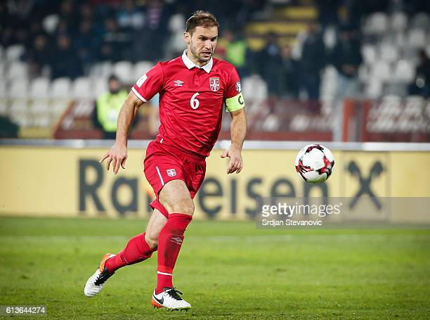 Branislav Ivanovic of Serbia in action during the FIFA 2018 World Cup Qualifier between Serbia and Austria at stadium Rajko Mitic on October 9 2016...