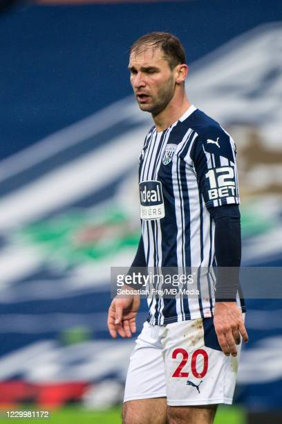 Branislav Ivanovic of West Bromwich Albion during the Premier League match between West Bromwich Albion and Crystal Palace at The Hawthorns on...