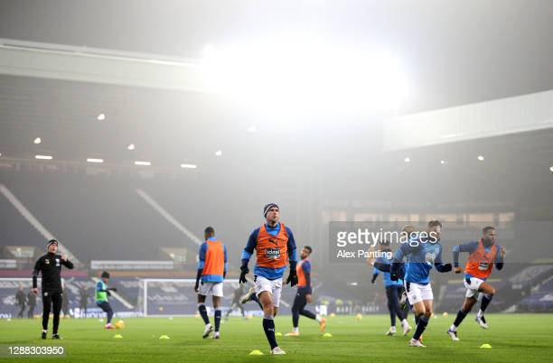 Branislav Ivanovic of West Bromwich Albion warms up prior to the Premier League match between West Bromwich Albion and Sheffield United at The...