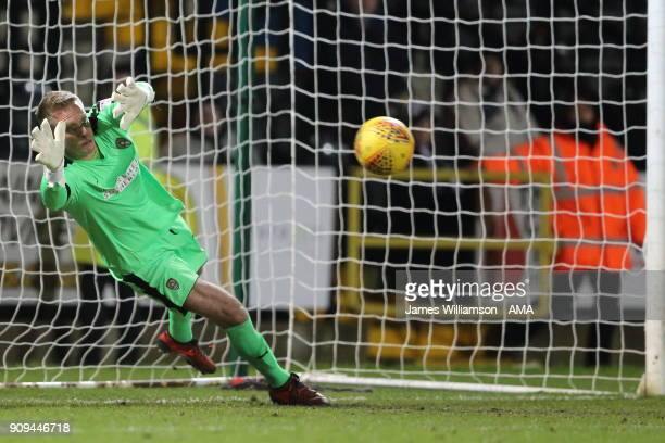 Branislav Pindroch of Notts County during the Sky Bet League Two match between Notts County and Crawley Town at Meadow Lane on January 23 2018 in...