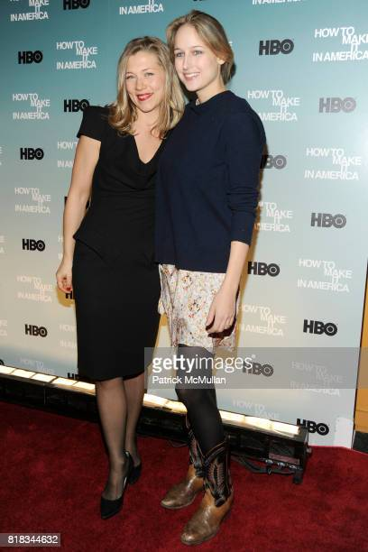 Branka Katic and Leelee Sobieski attend HBO THE CINEMA SOCIETY host a screening of 'HOW TO MAKE IT IN AMERICA' at Landmark Sunshine Theater on...