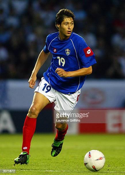 Branko Boskovic of Serbia and Montenegro runs wih the ball during the International friendly between England and Serbia and Montenegro on June 3 2003...