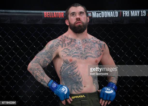 Branko Busick takes on Tyrell Fortune in a Heavyweight bout on April 21 2017 at Bellator 178 at the Mohegan Sun Arena in Uncasville Connecticut...