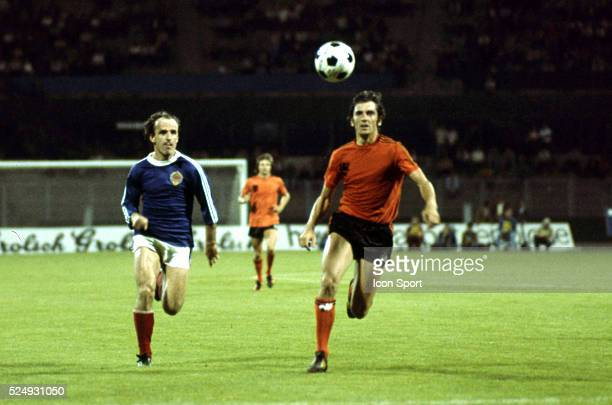 Branko Oblak of Yugoslavia and Adri van Kraay of Holland during the European Championship for the 3rd place between Holland and Yugoslavia in Stadium...