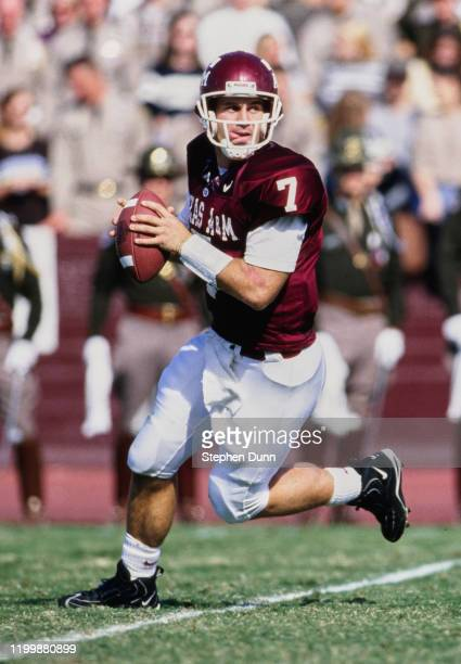 Branndon Stewart, Quarterback for the Texas A&M Aggies during the NCAA Big 12 college football game against the Baylor University Bears on 8th...