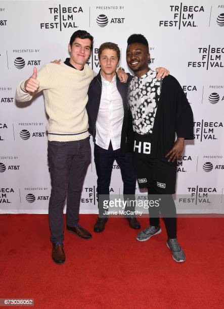 Brannen Haderle Alex Berry and Stanley Kalu of Live Colorfully attends Tribeca Snapchat Shorts showing during 2017 Tribeca Film Festival at Cinepolis...