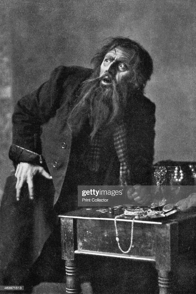Bransby Williams (1870-1961), actor, 1911-1912. Seen here as Fagin from Charles Dickens' Oliver Twist. From Penrose's Pictorial Annual 1911-1912, The Process Year Book, volume 17, edited by William Gamble and published by AW Penrose (London, 1911-1912).