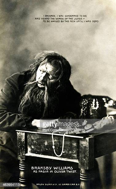 Bransby Williams British actor early 20th century Bransby is seen here in the role of 'Fagin' from Oliver Twist